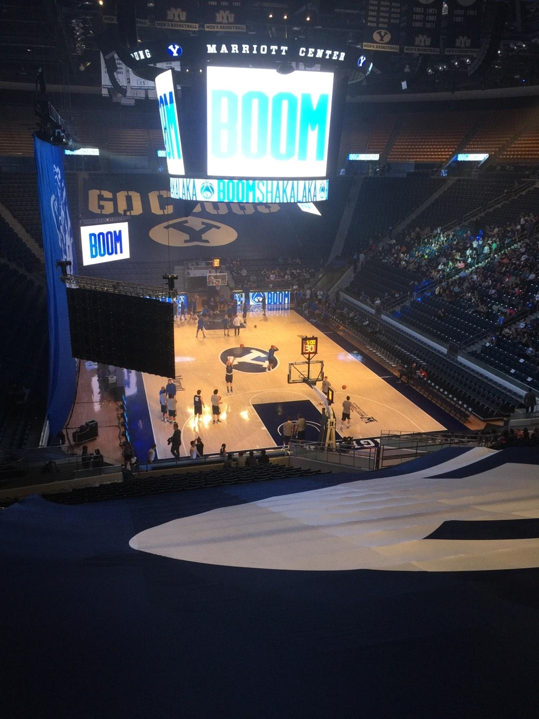 Marriott Center Section 15 Row 26 Seat 18