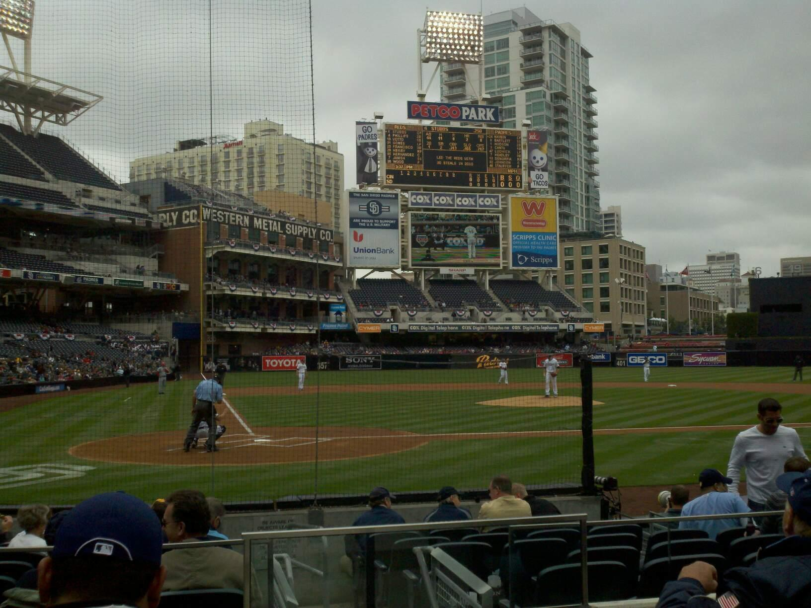 PETCO Park Section 103 Row 11 Seat 11