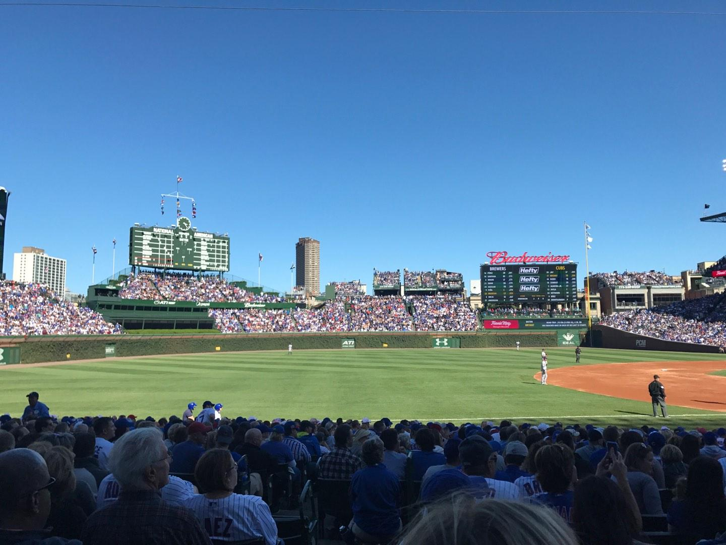 Wrigley Field section 108 row 6 seat 1 - Chicago Cubs vs ...