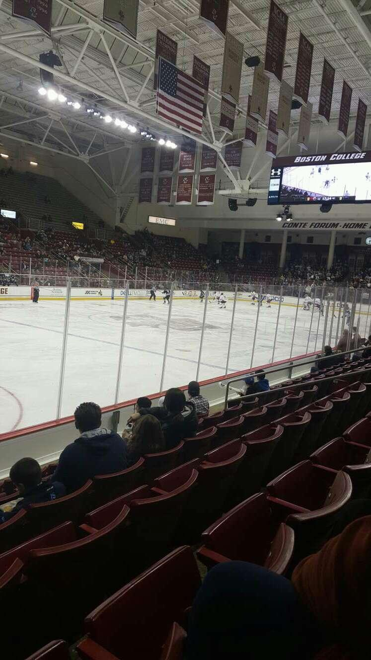 Conte Forum Section O Row 6 Seat 13