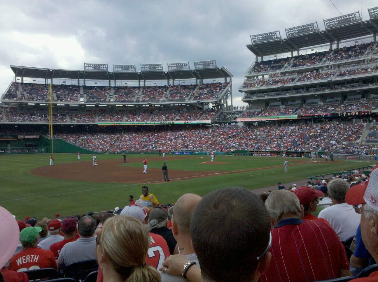 Nationals Park Section 112 Row X Seat 8