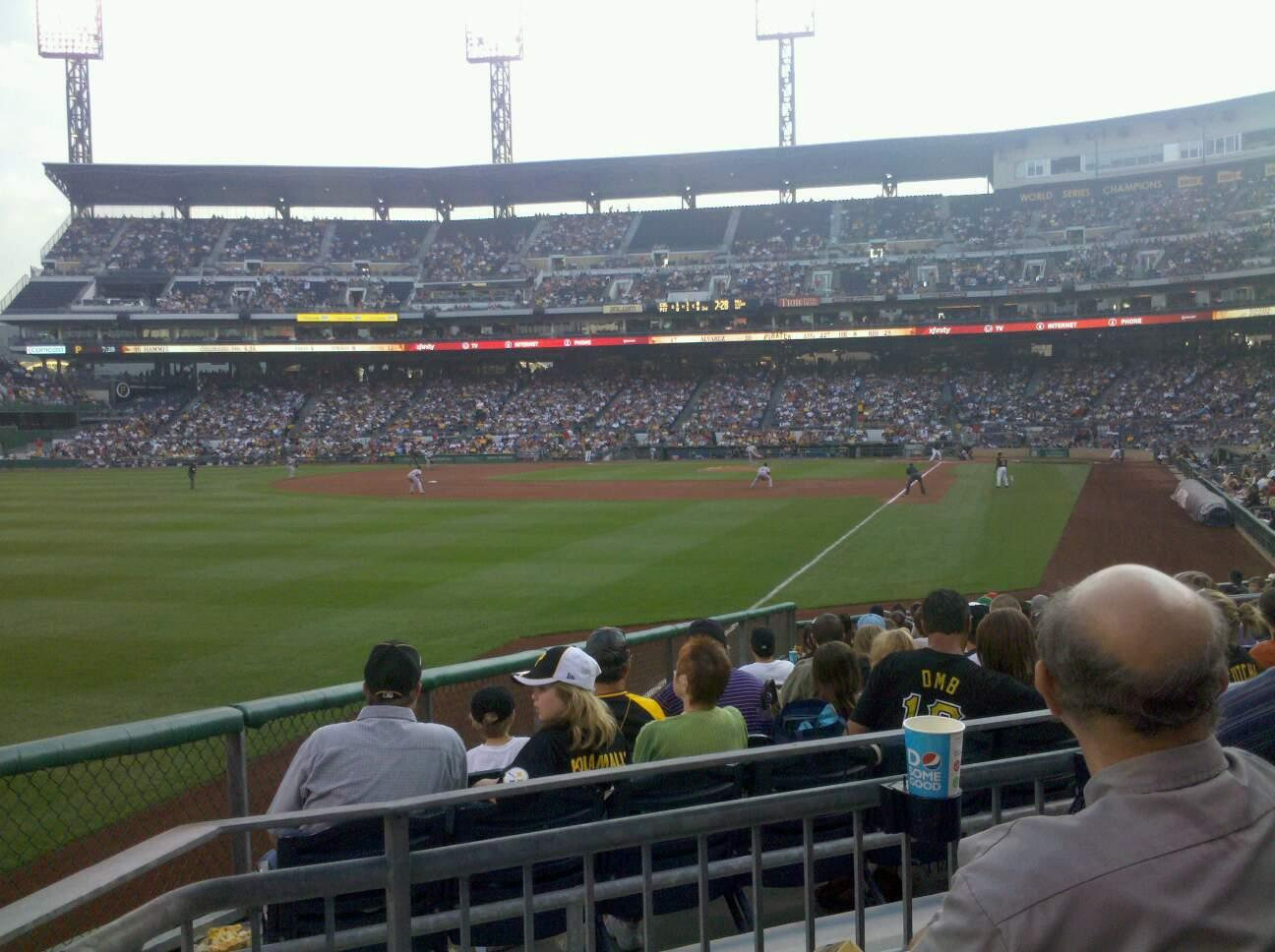PNC Park Section 131 Row C Seat 20