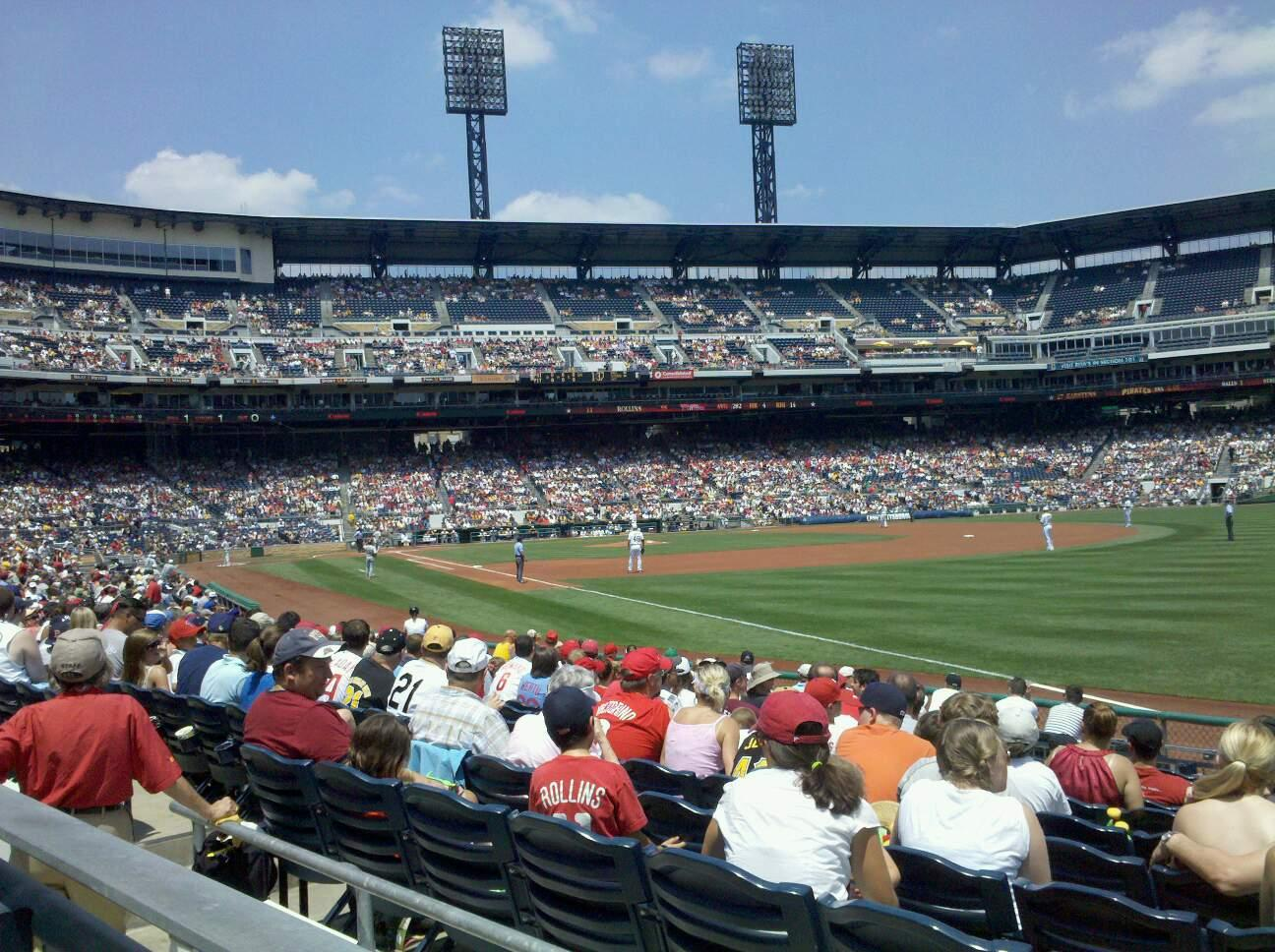 PNC Park Section 101 Row A Seat 3