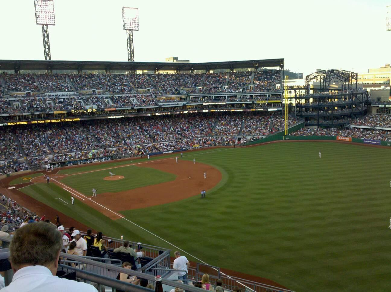 PNC Park Section 301 Row H Seat 6