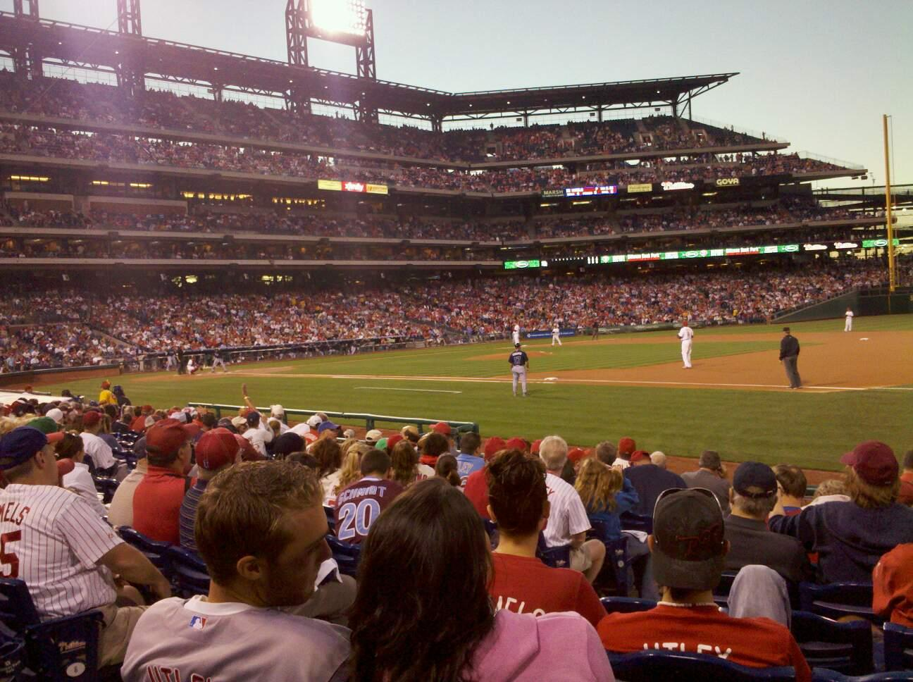 Citizens Bank Park Section 113 Row 11 Seat 10