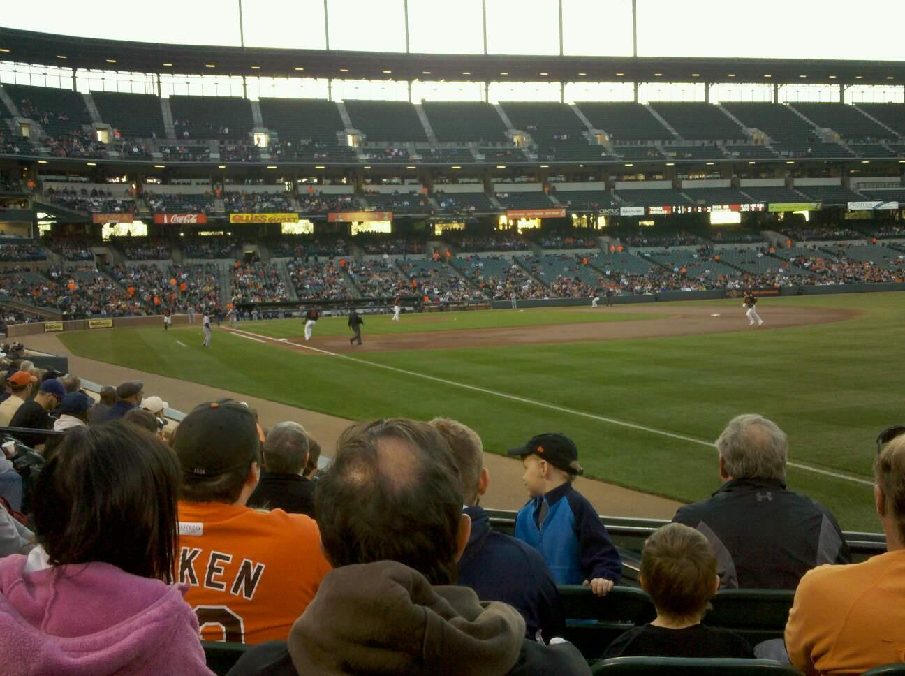 Oriole Park at Camden Yards Section 8 Row 7 Seat 8