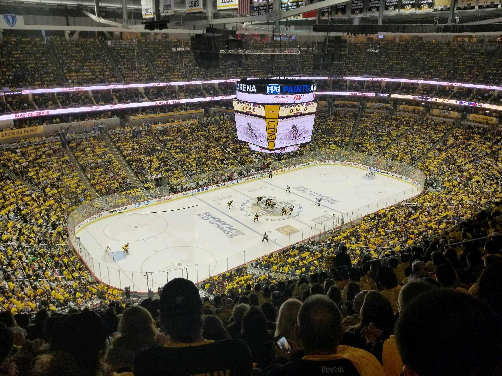 PPG Paints Arena Section 223 Row P Seat 14