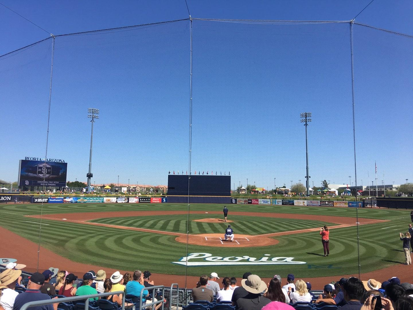 Peoria Sports Complex Section 100 Row N Seat 12