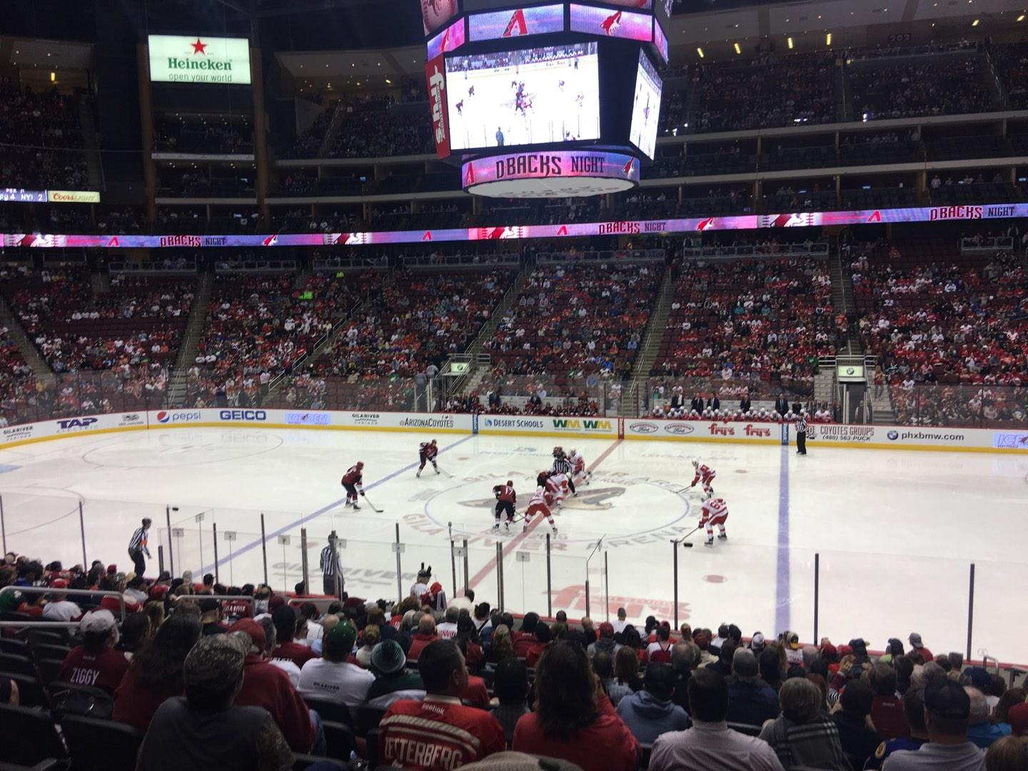 Gila River Arena Section 111 Row S Seat 5