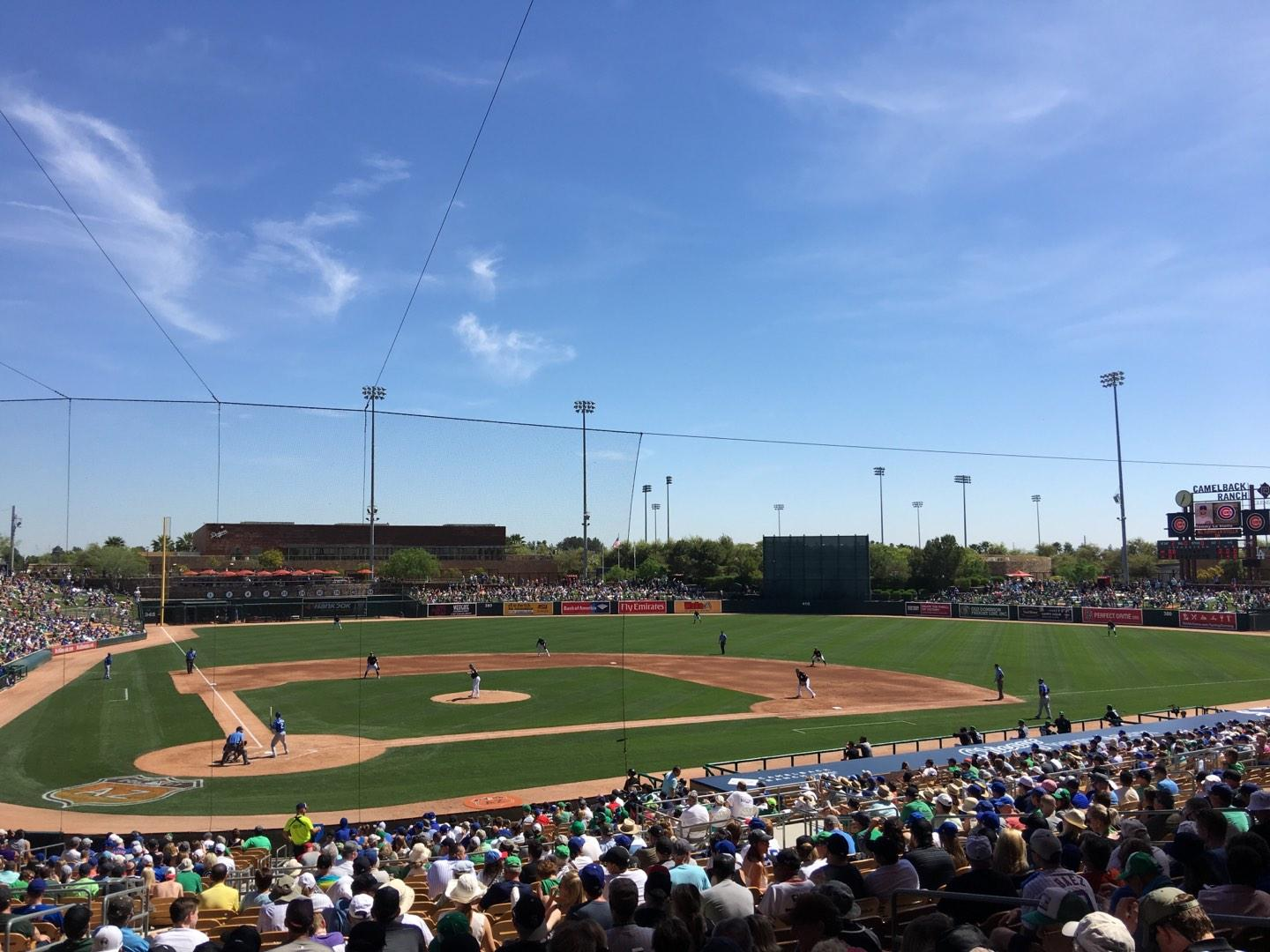 Camelback Ranch Section 112 Row WCH Seat 10
