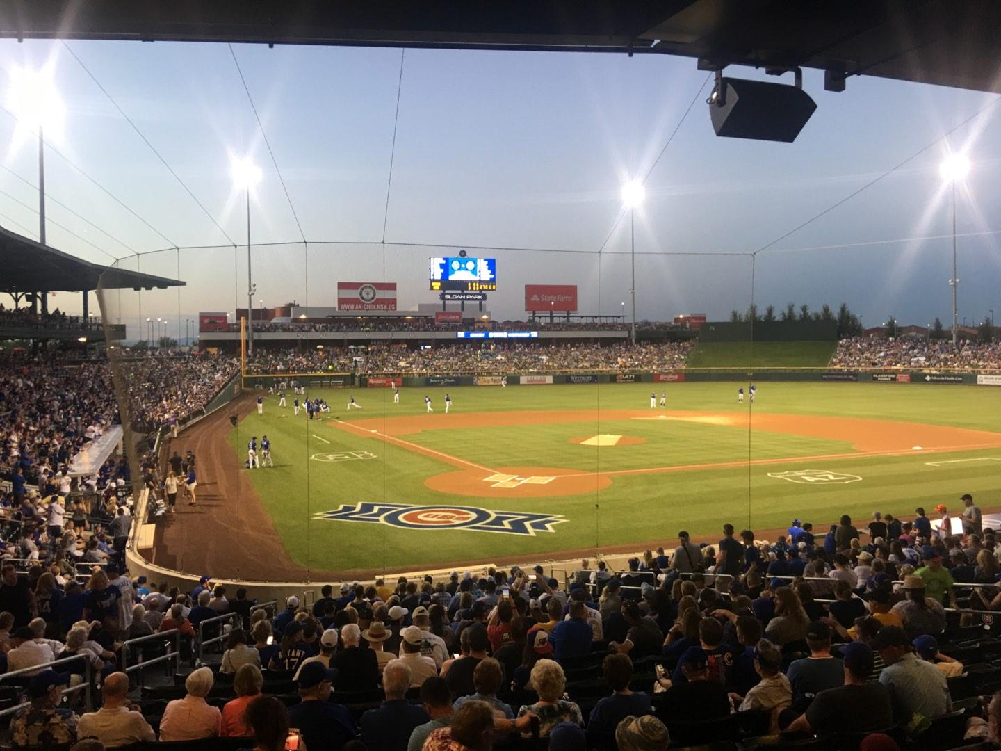Sloan Park Section 112 Row 24 Seat 5