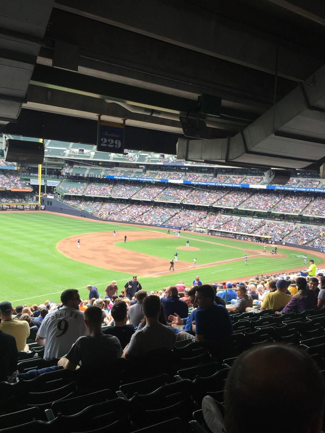 Miller Park Section 229 Row 21 Seat 15