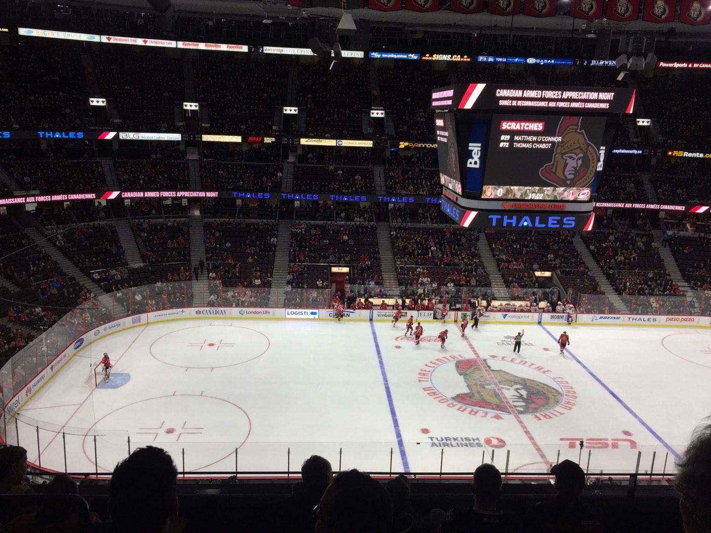 Canadian Tire Centre Section 323 Row E Seat 11