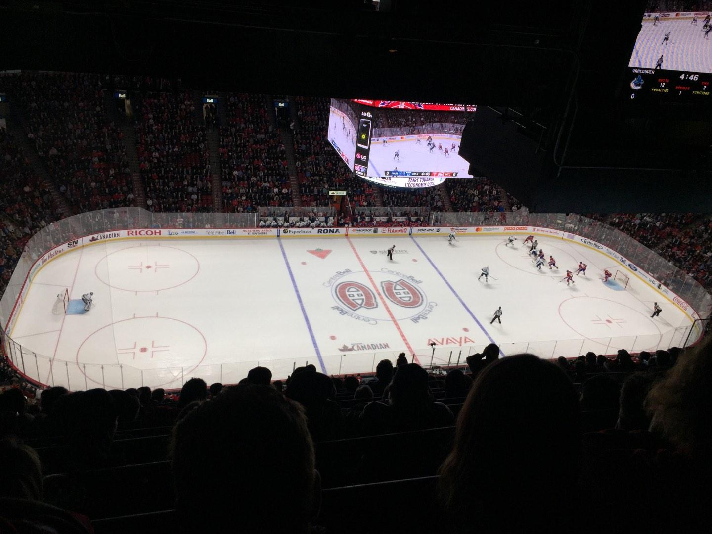 Centre Bell Section 421 Row B Seat 9