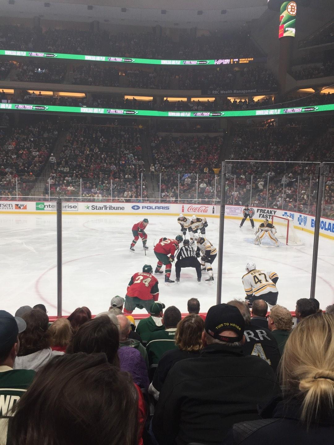 Xcel Energy Center Section 115 Row 7 Seat 5