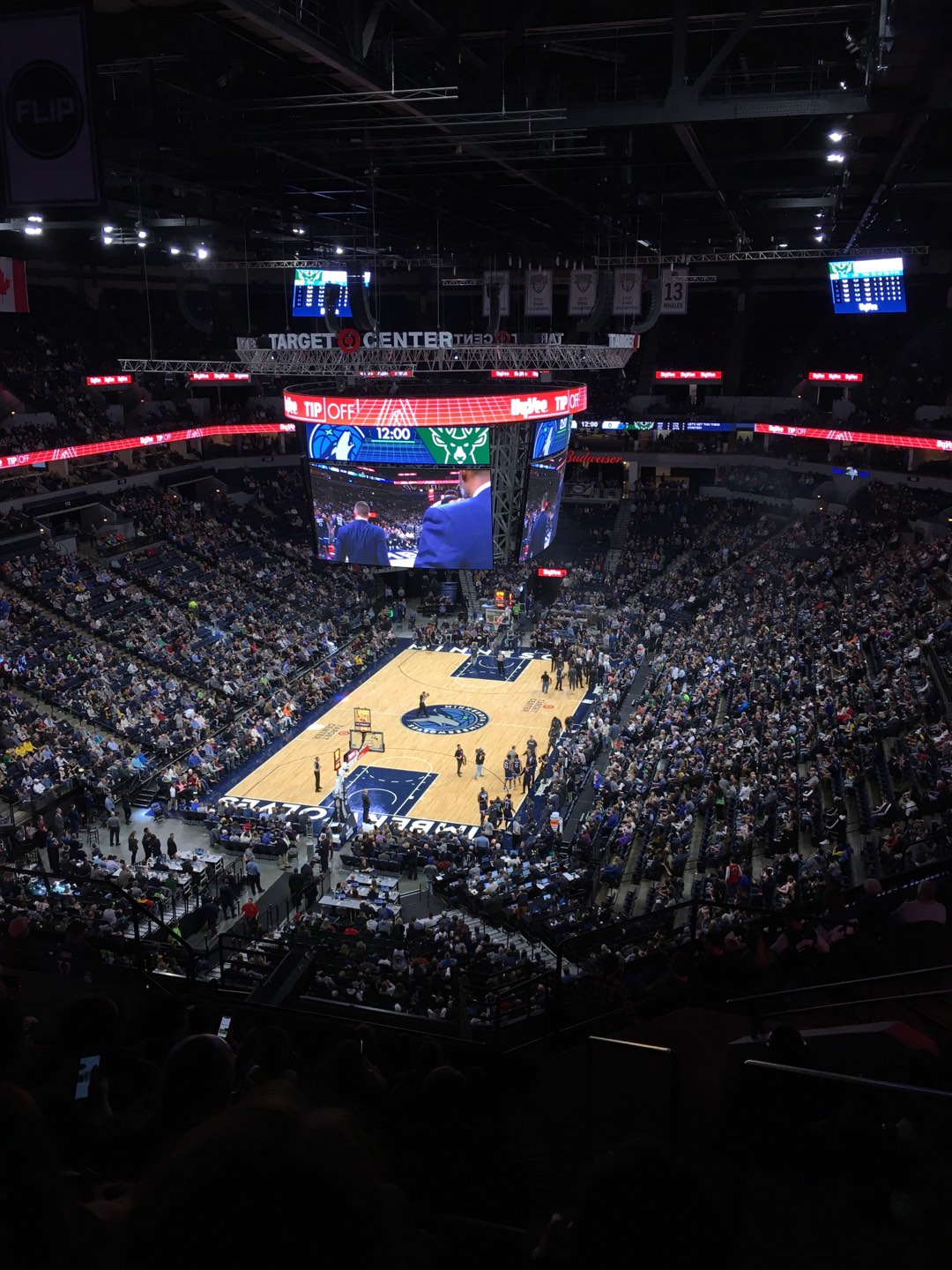 Target Center Section 239 Row P Seat 2