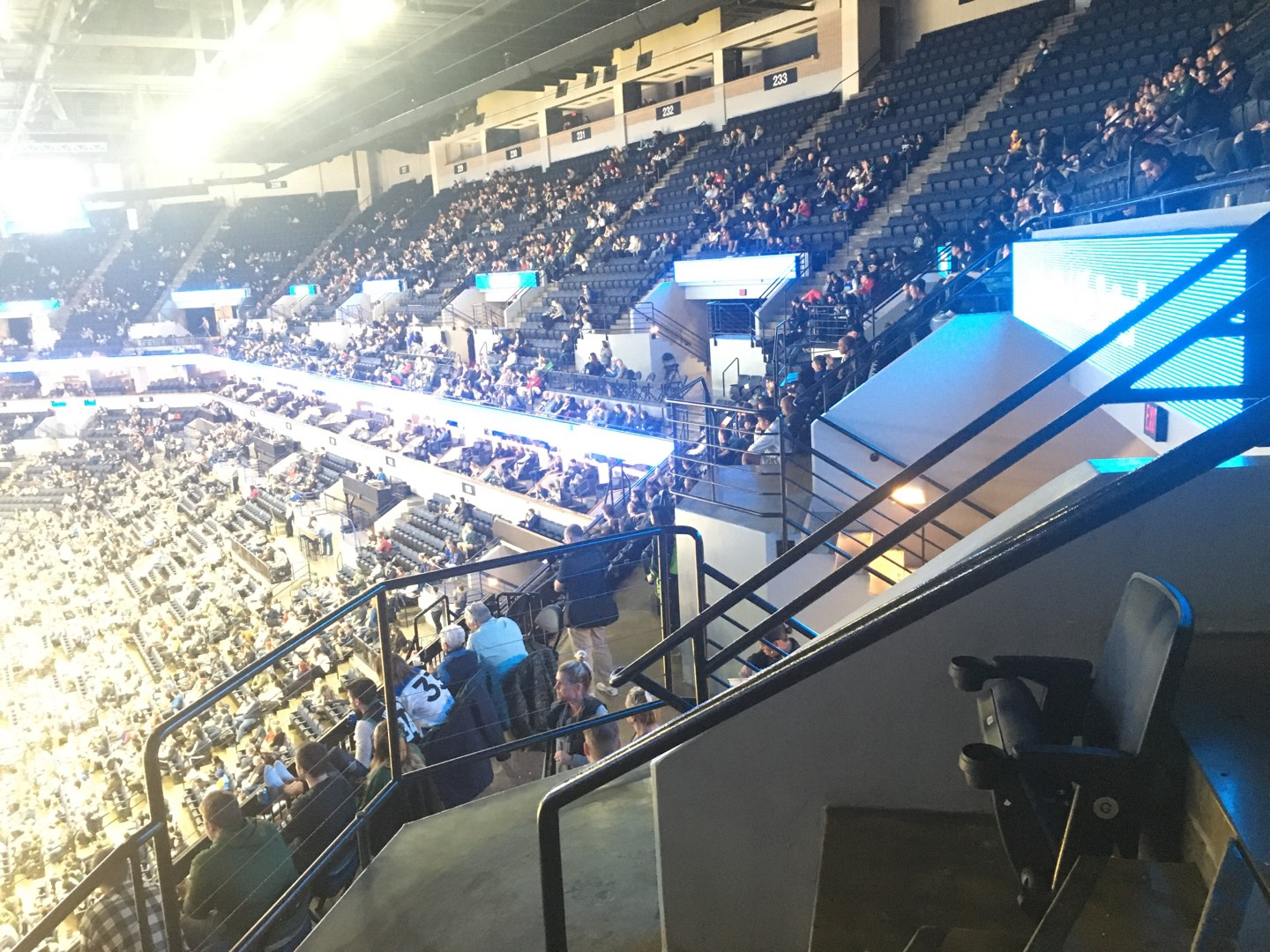 Target Center Section 238 Row G Seat 16