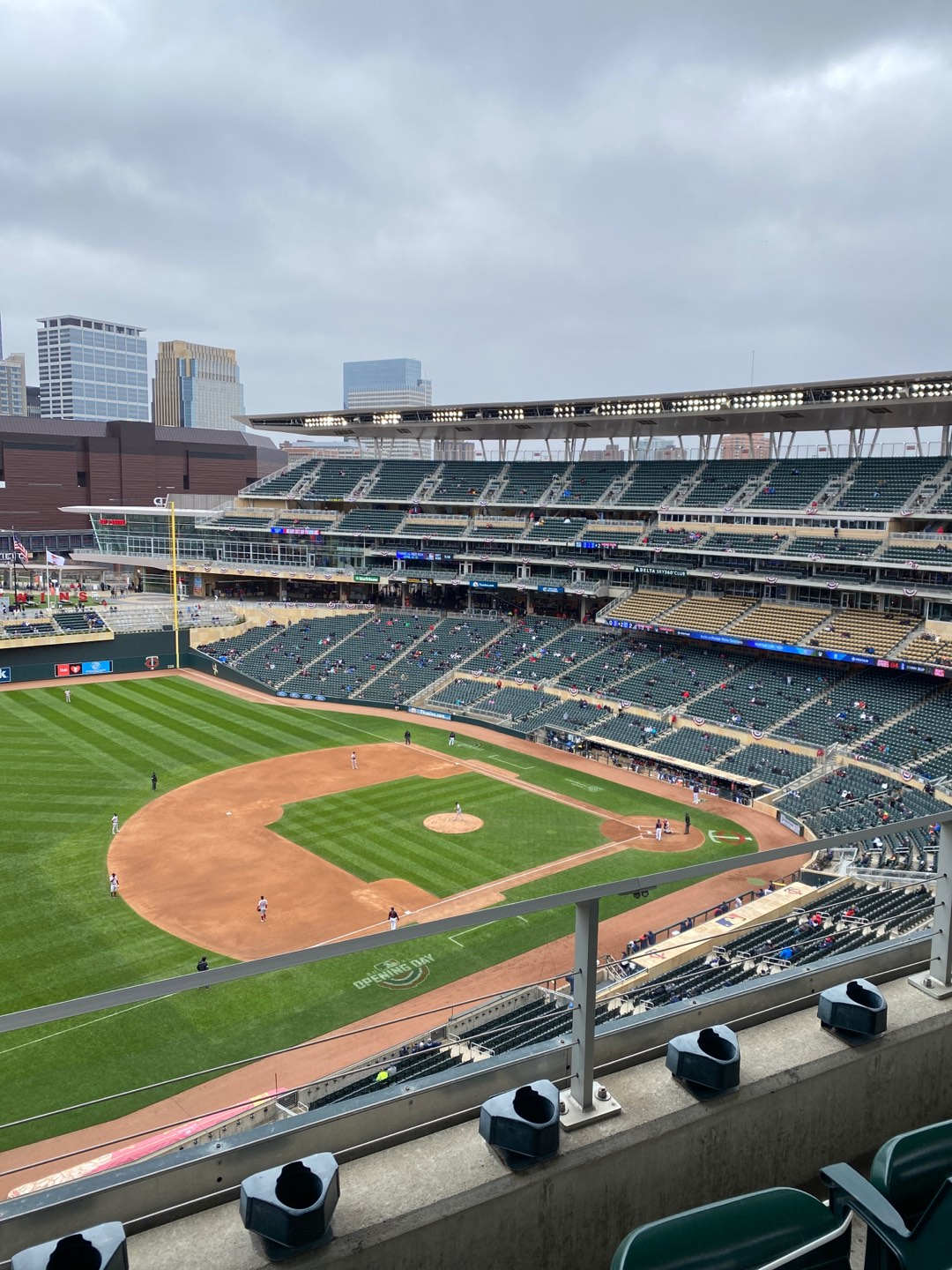 Target Field Section 324 Row 2 Seat 13