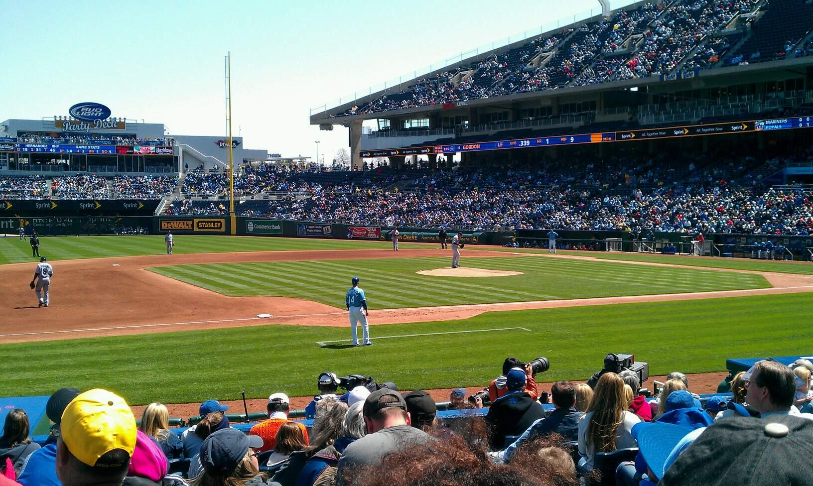 Kauffman Stadium Section 118 Row k Seat 8