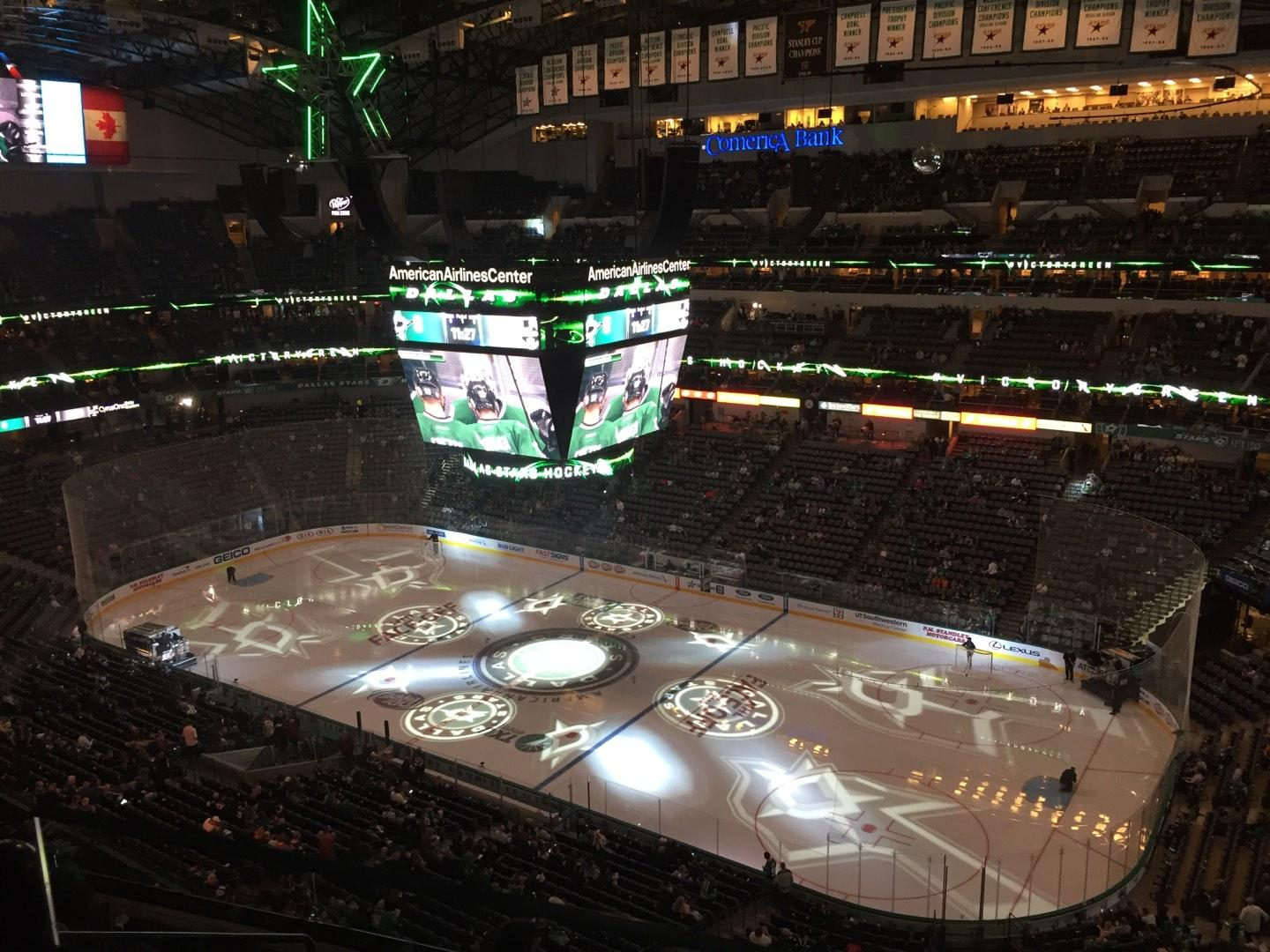 American Airlines Center Section 323 Row F Seat 6