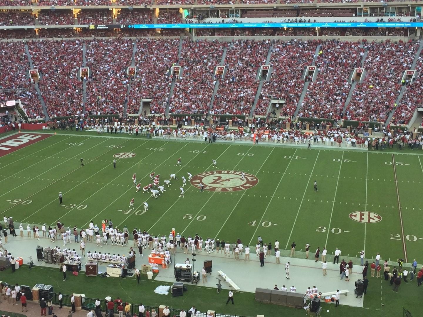 Bryant-Denny Stadium Section U4-KK Row 1 Seat 6
