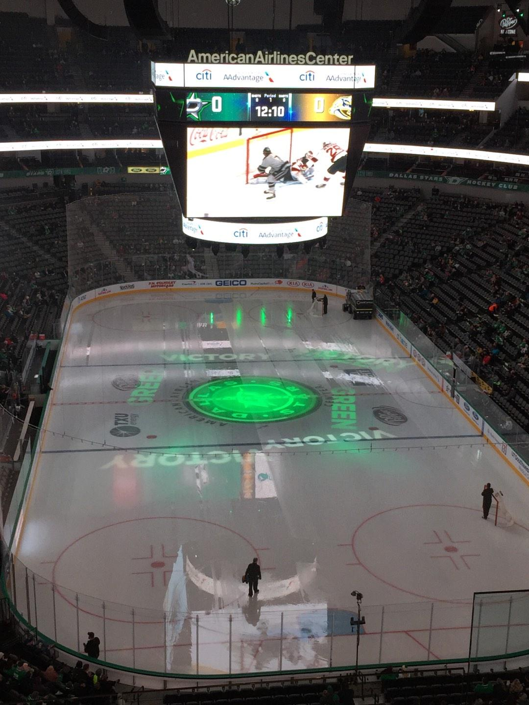 American Airlines Center Section 319 Row D Seat 3