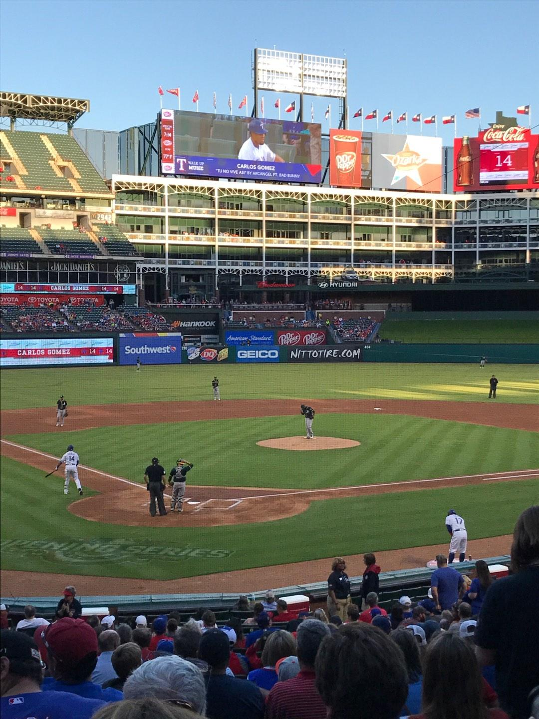 Globe Life Park in Arlington Section 28 Row 25 Seat 5