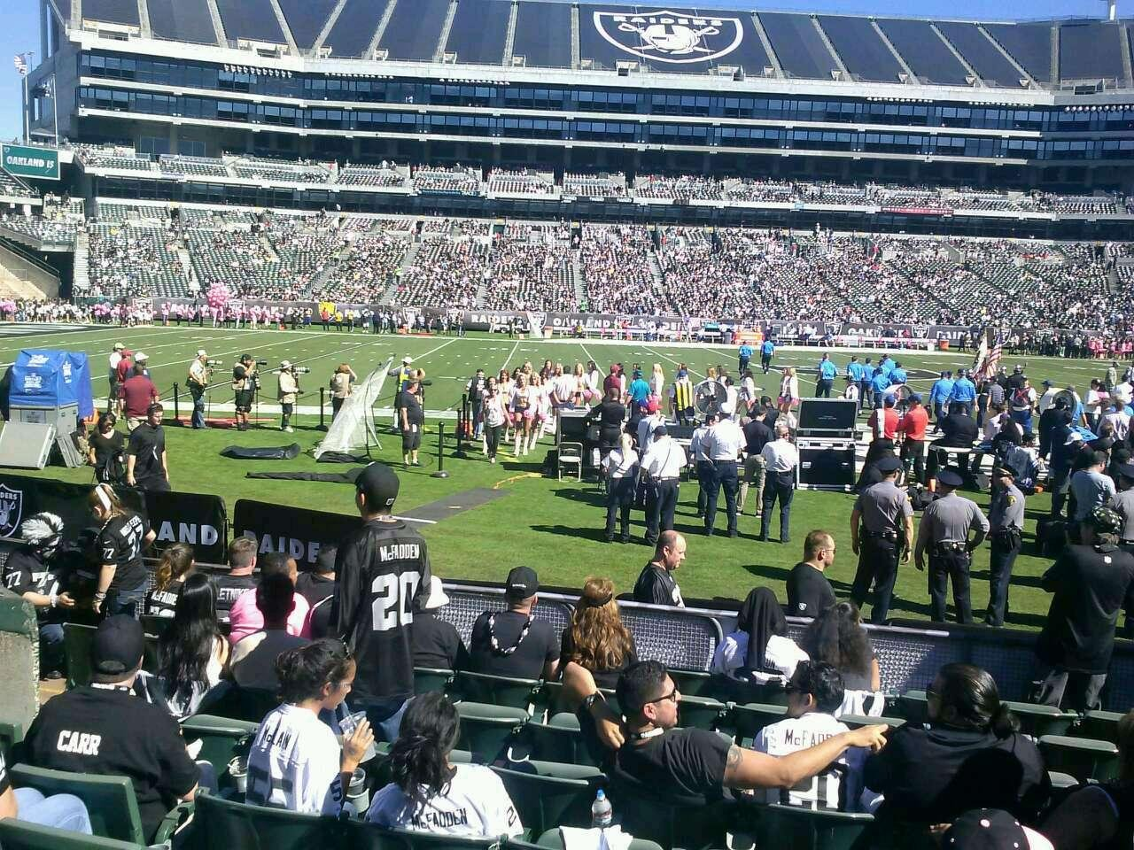 O Co Coliseum Section 128 Row 10 Seat 7 Oakland Raiders
