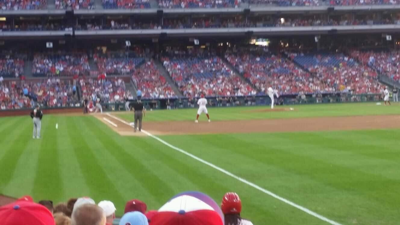 Citizens Bank Park Section 109 Row 9 Seat 3