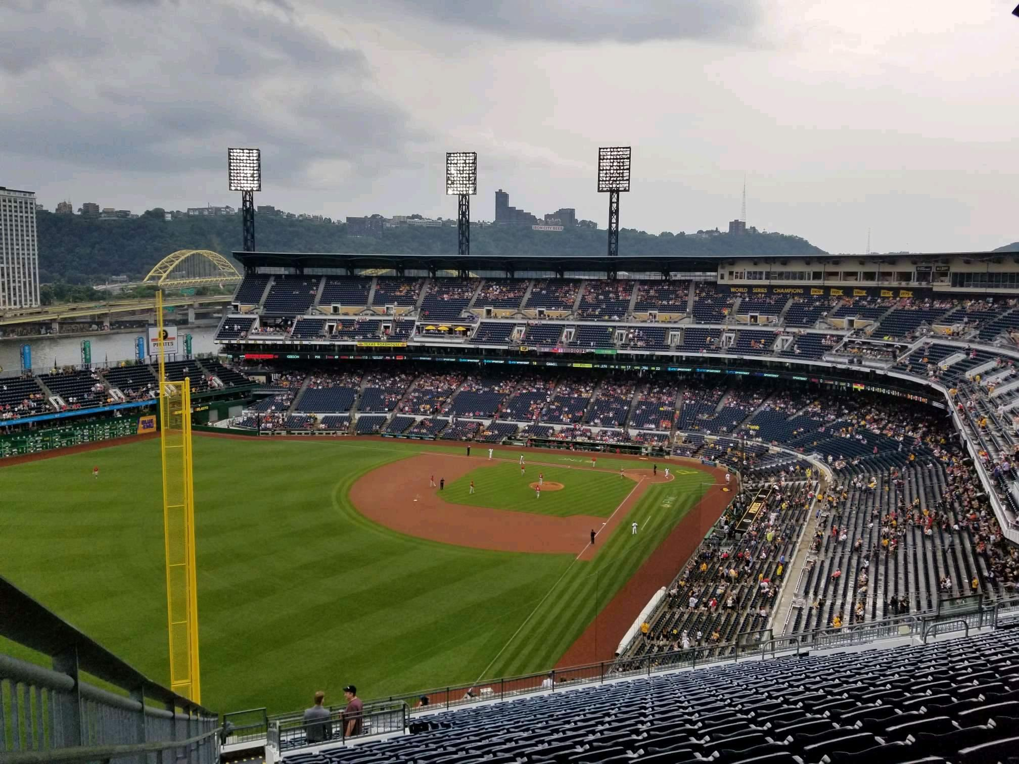 PNC Park Section 333 Row y Seat 30