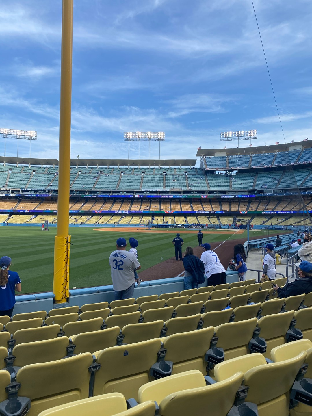 Dodger Stadium Section 49FD Row G Seat 15