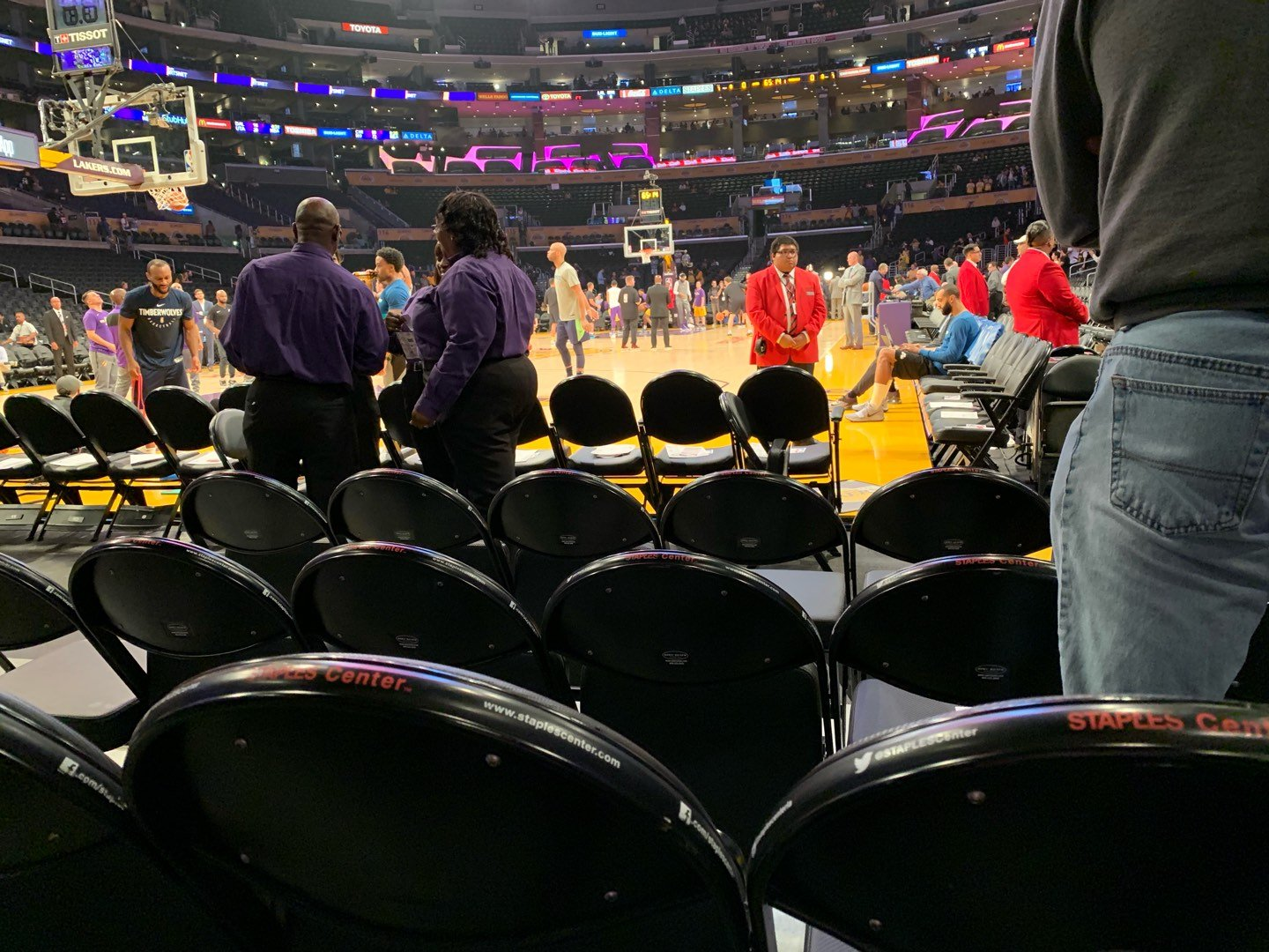 Staples Center Section 105 Row D Seat 3