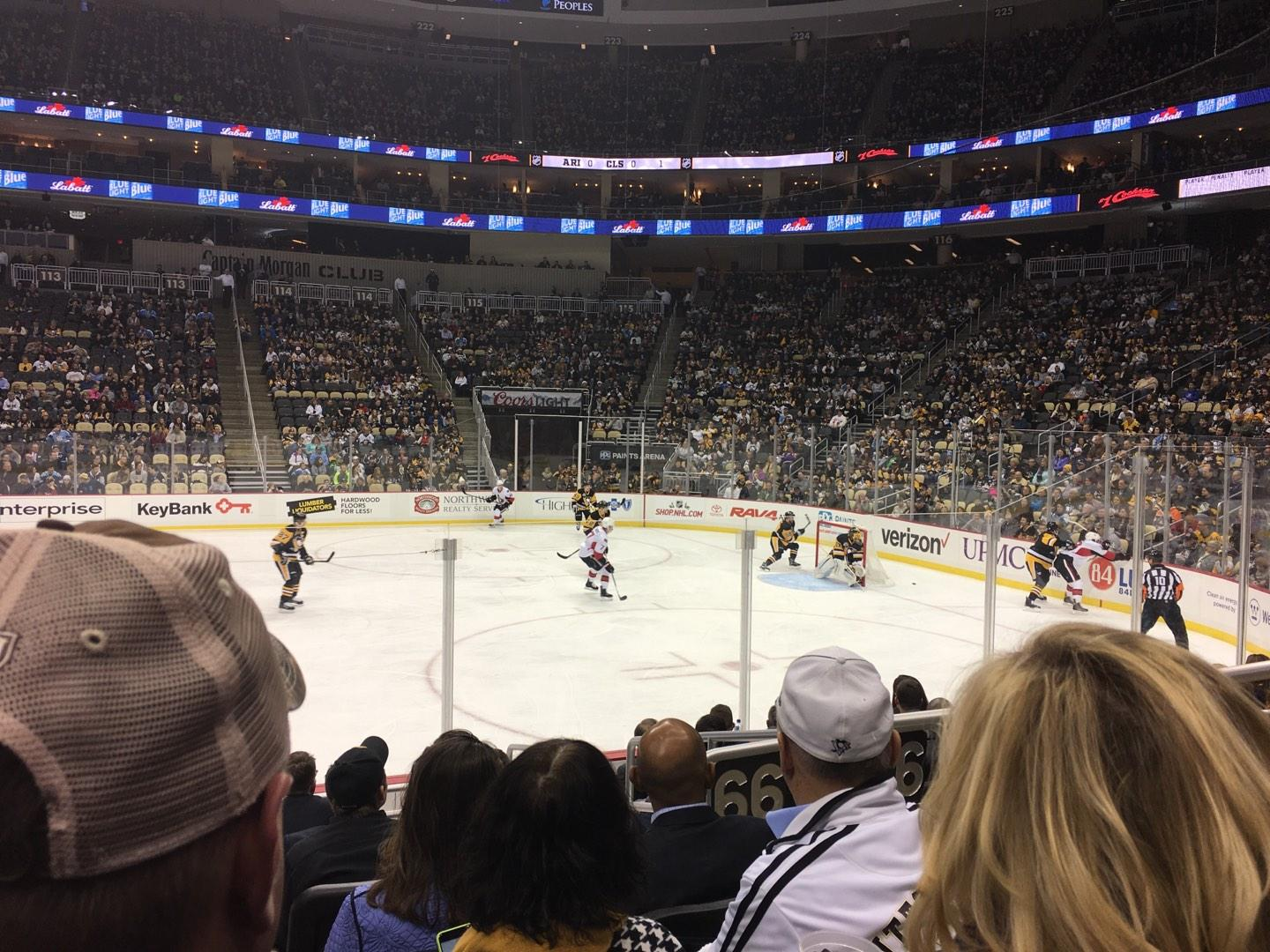 PPG Paints Arena Section 101 Row J Seat 3