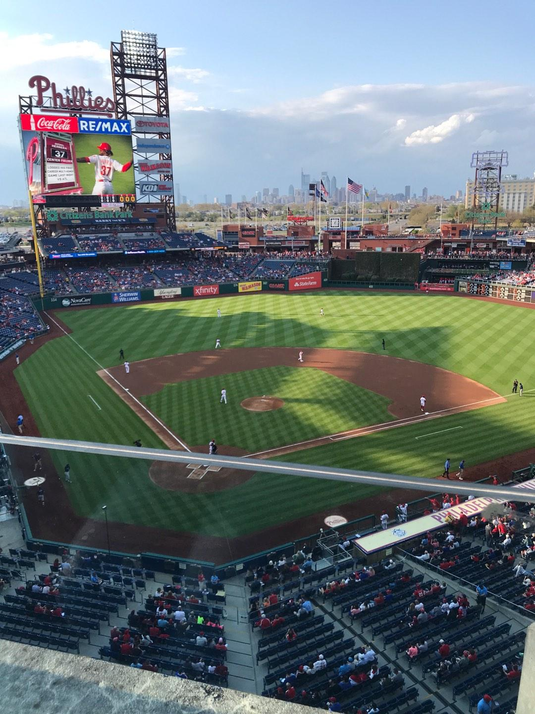 Citizens Bank Park Section 319 Row 1 Seat 5
