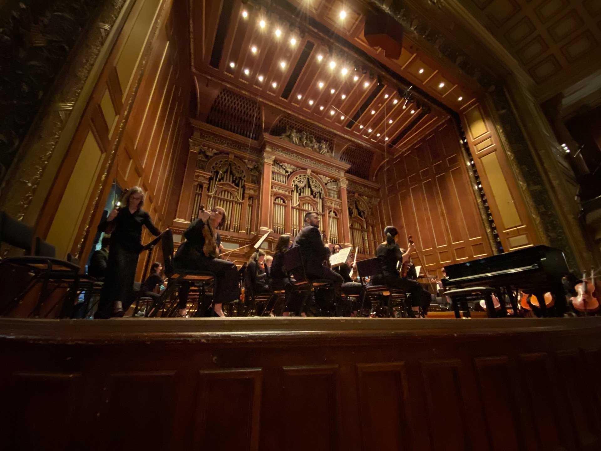 Jordan Hall at the New England Conservatory Section Orchestra Left Row A Seat 11