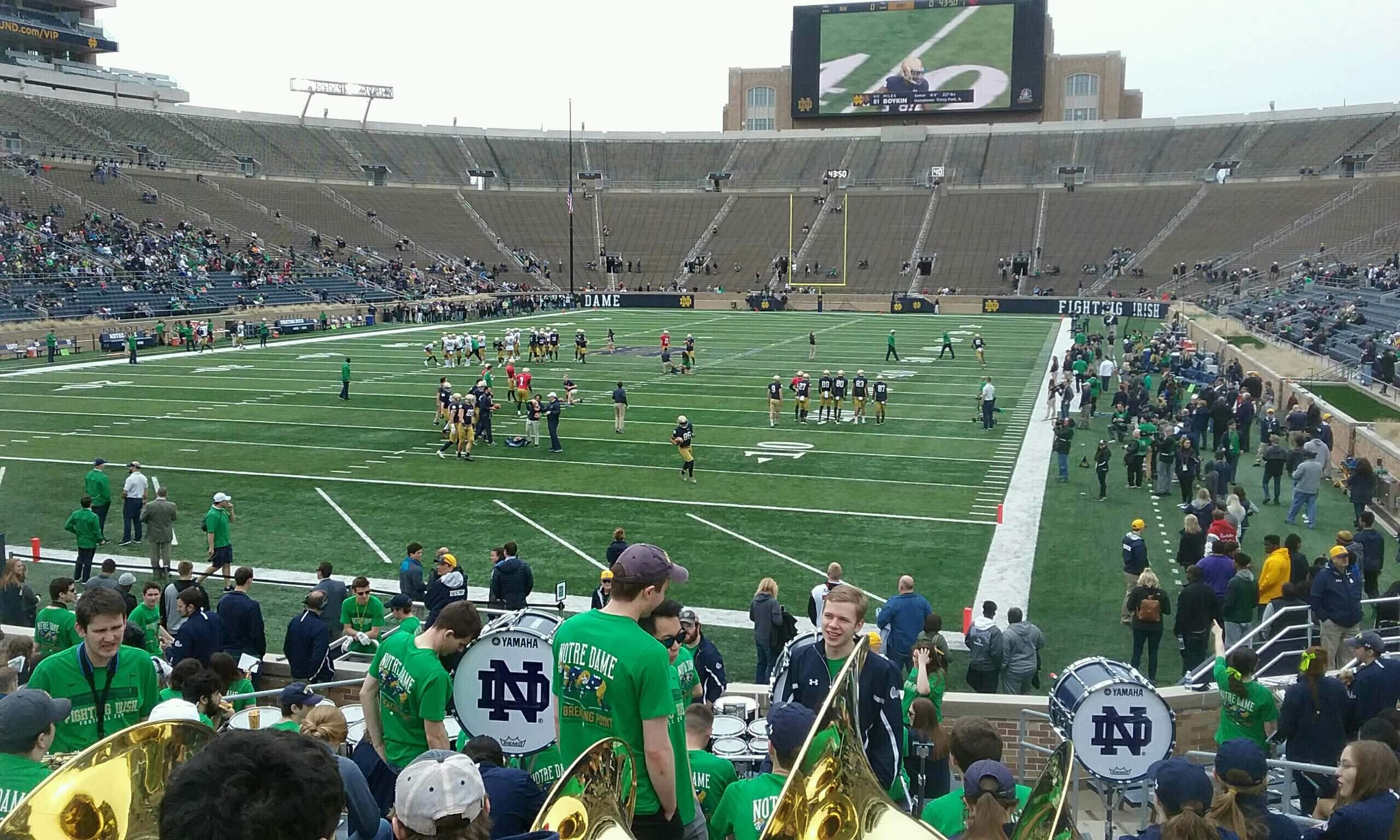 Notre Dame Stadium Section 35 Row 23 Seat 8