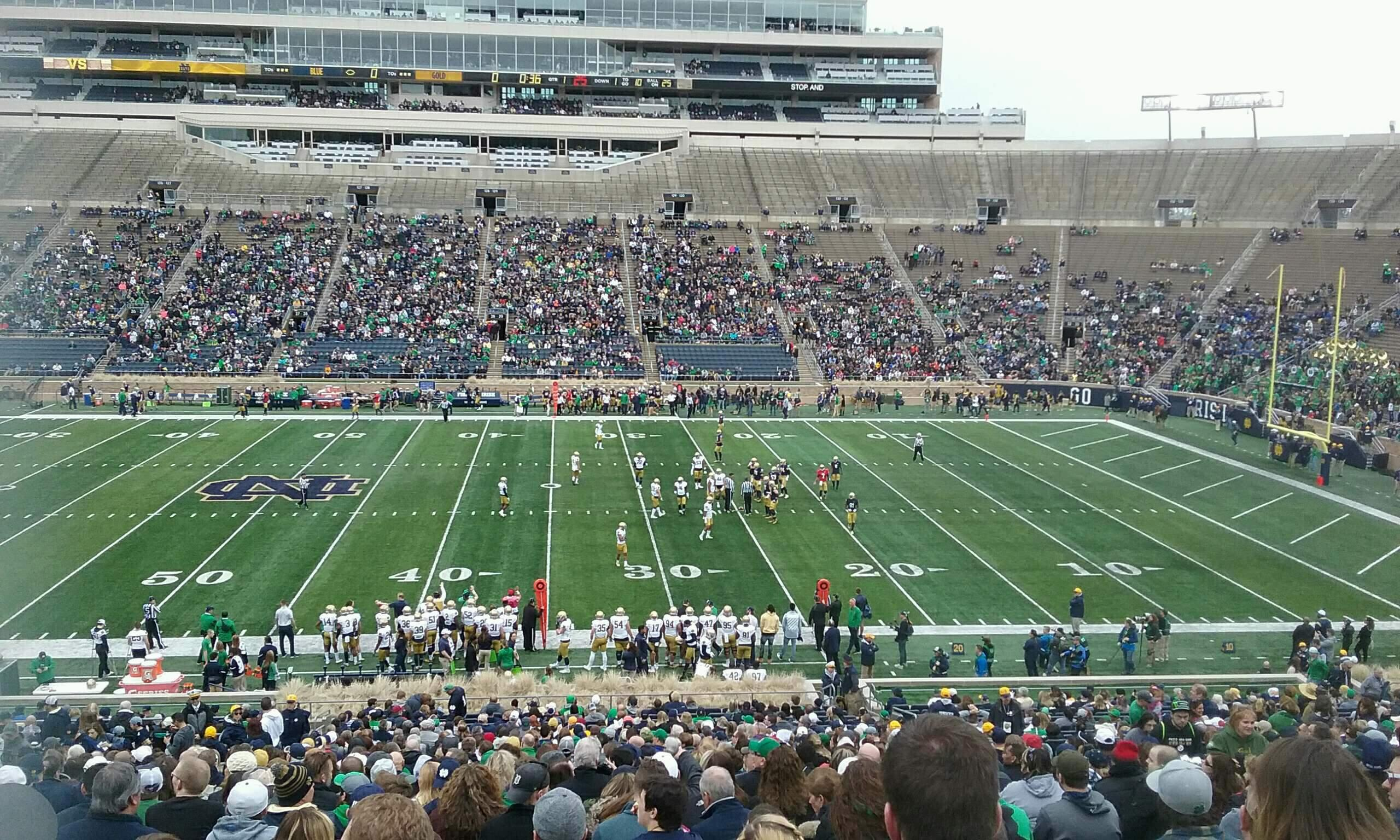 Notre Dame Stadium Section 9 Row 54 Seat 13