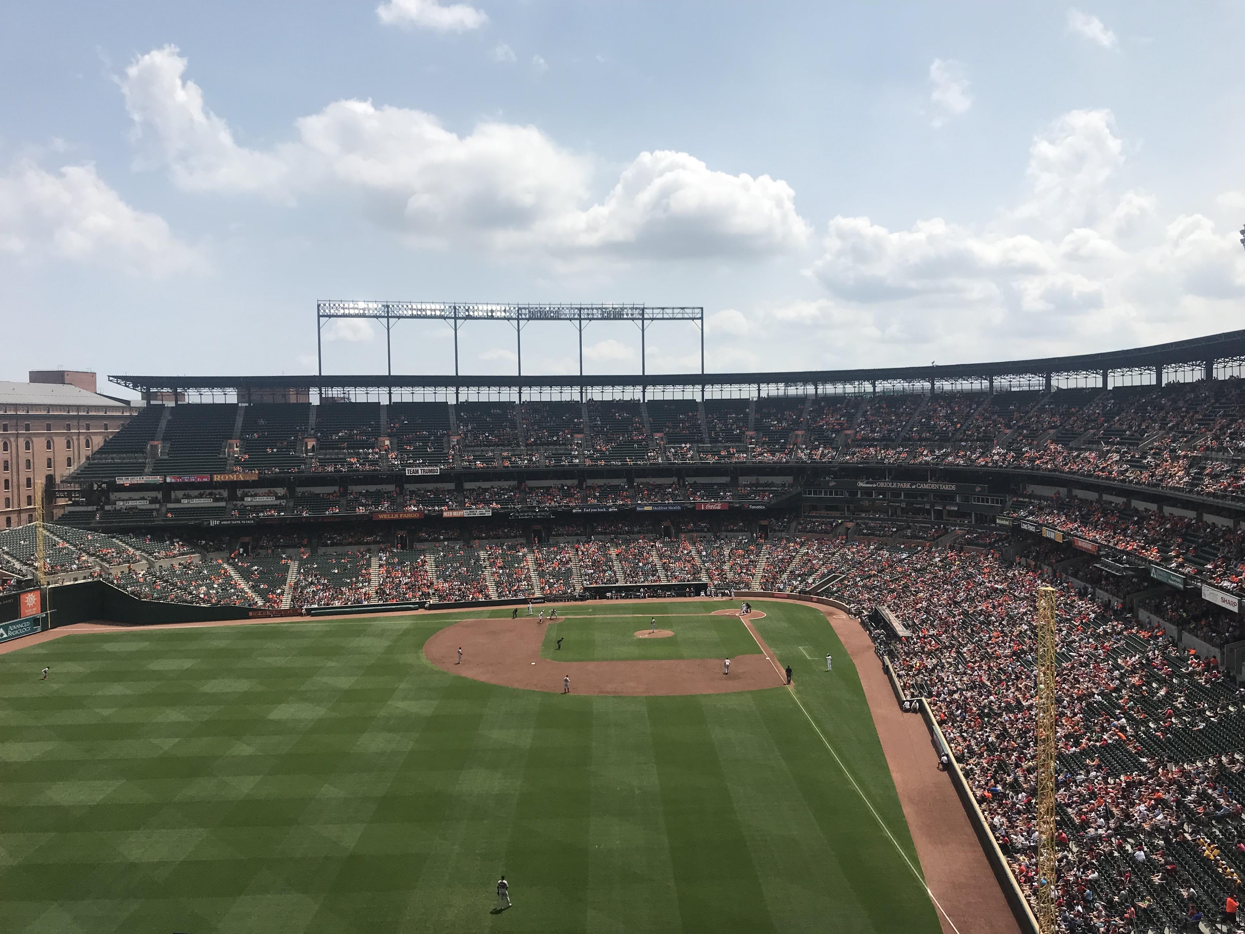 Oriole Park at Camden Yards Section 382 Row 15 Seat 8
