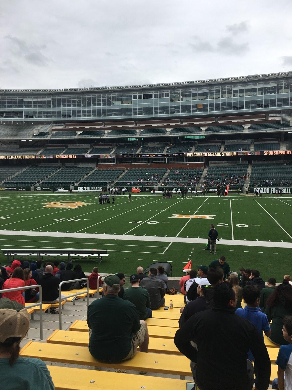McLane Stadium Section 123 Row 13 Seat 31