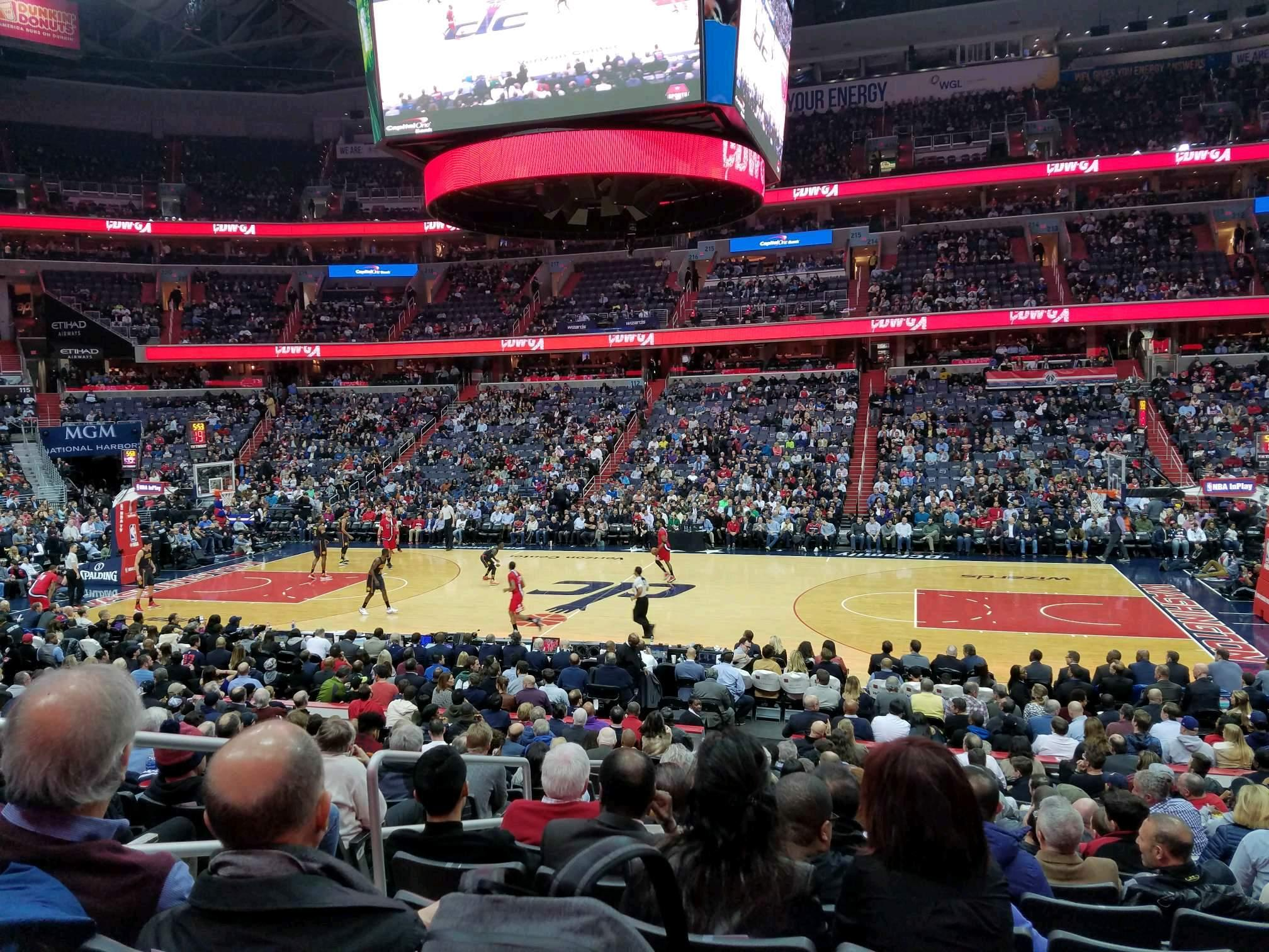 Capital One Arena Section 101 Row Q Seat 4