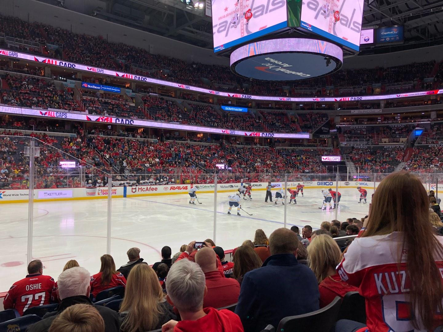 Capital One Arena Section 109 Row H Seat 5