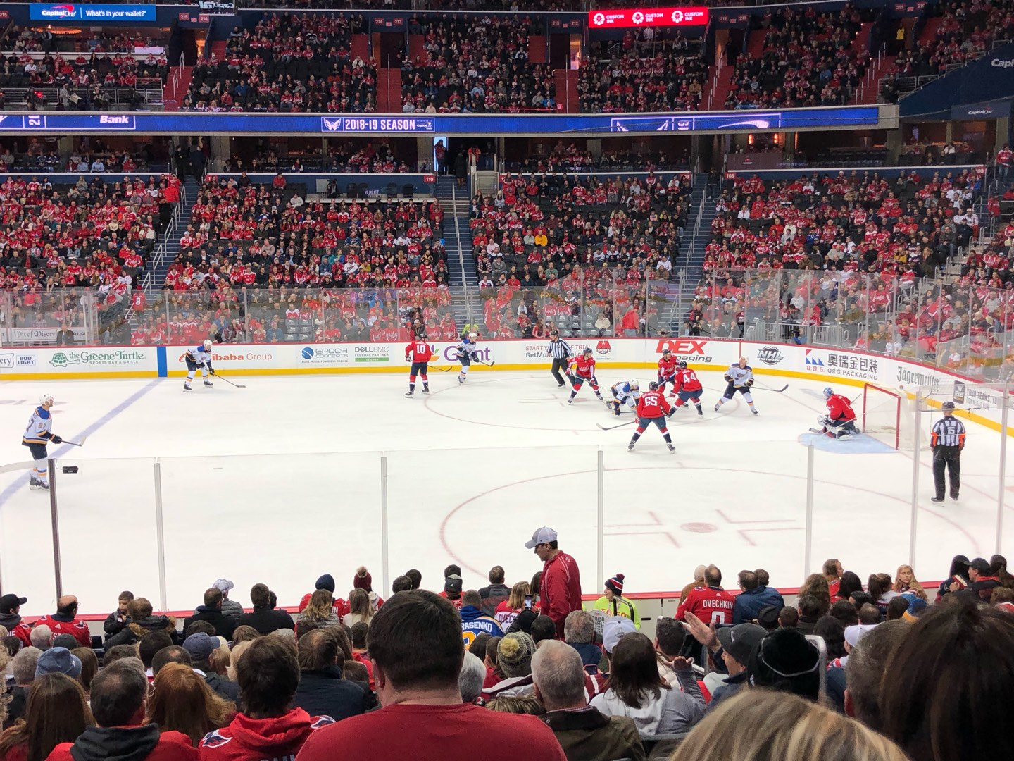 Capital One Arena Section 101 Row Q Seat 20