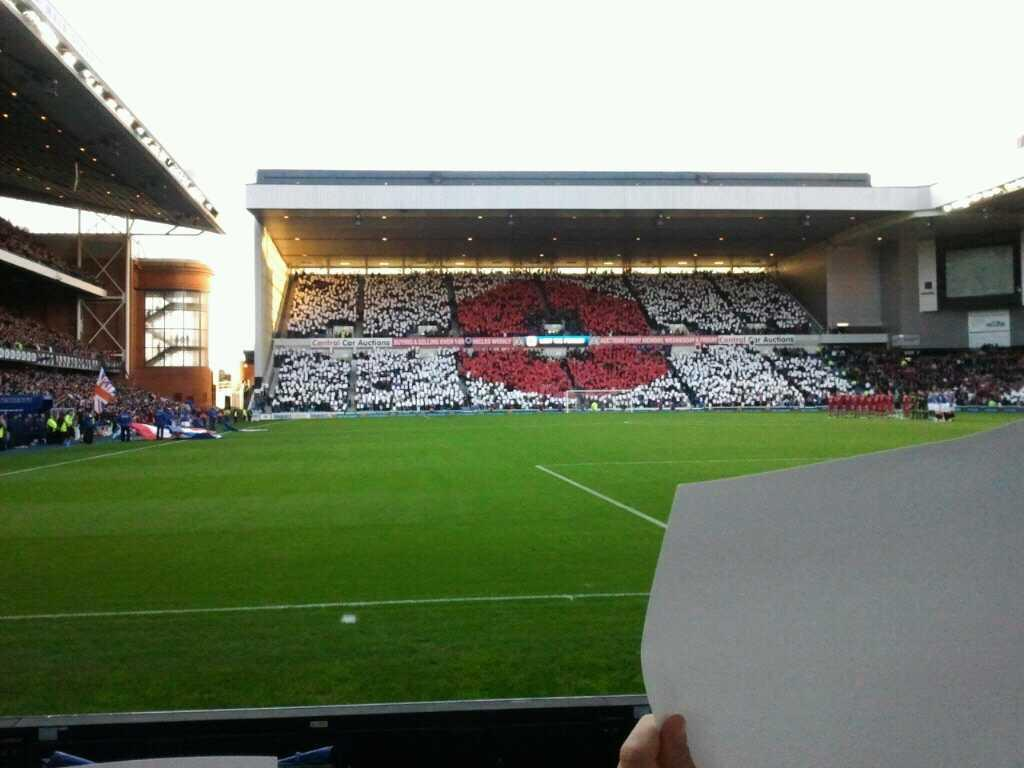 Ibrox Park Section CF5 Row B Seat 0133