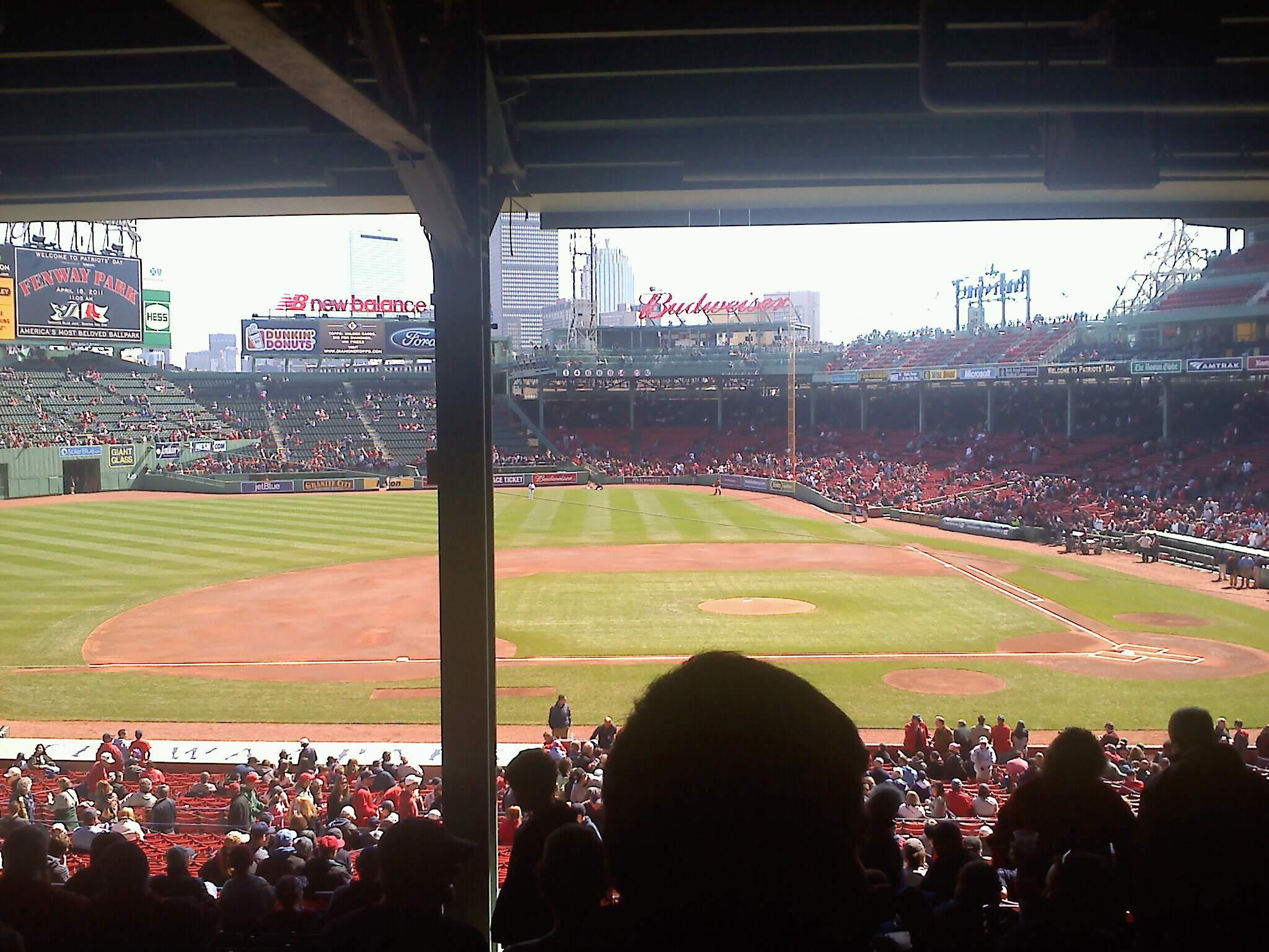 Fenway Park Section Grandstand 25 Row 17 Seat 22