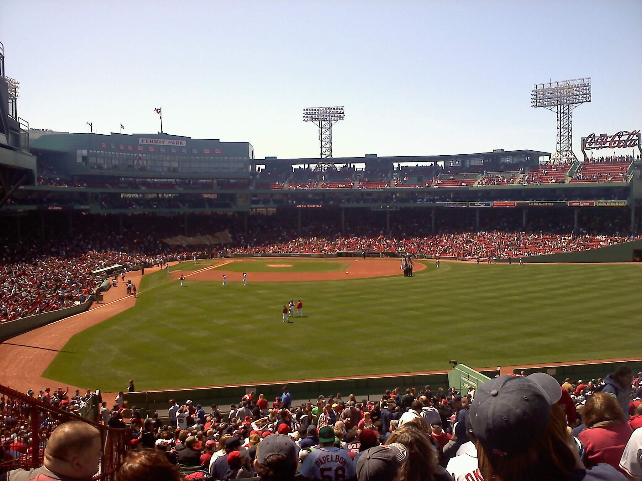 Fenway Park Section Bleacher 43 Row 45 Seat 11