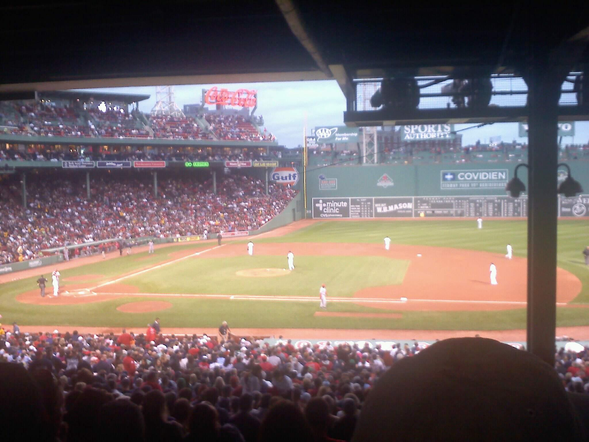 Fenway Park Section Grandstand 15 Row 16 Seat 7