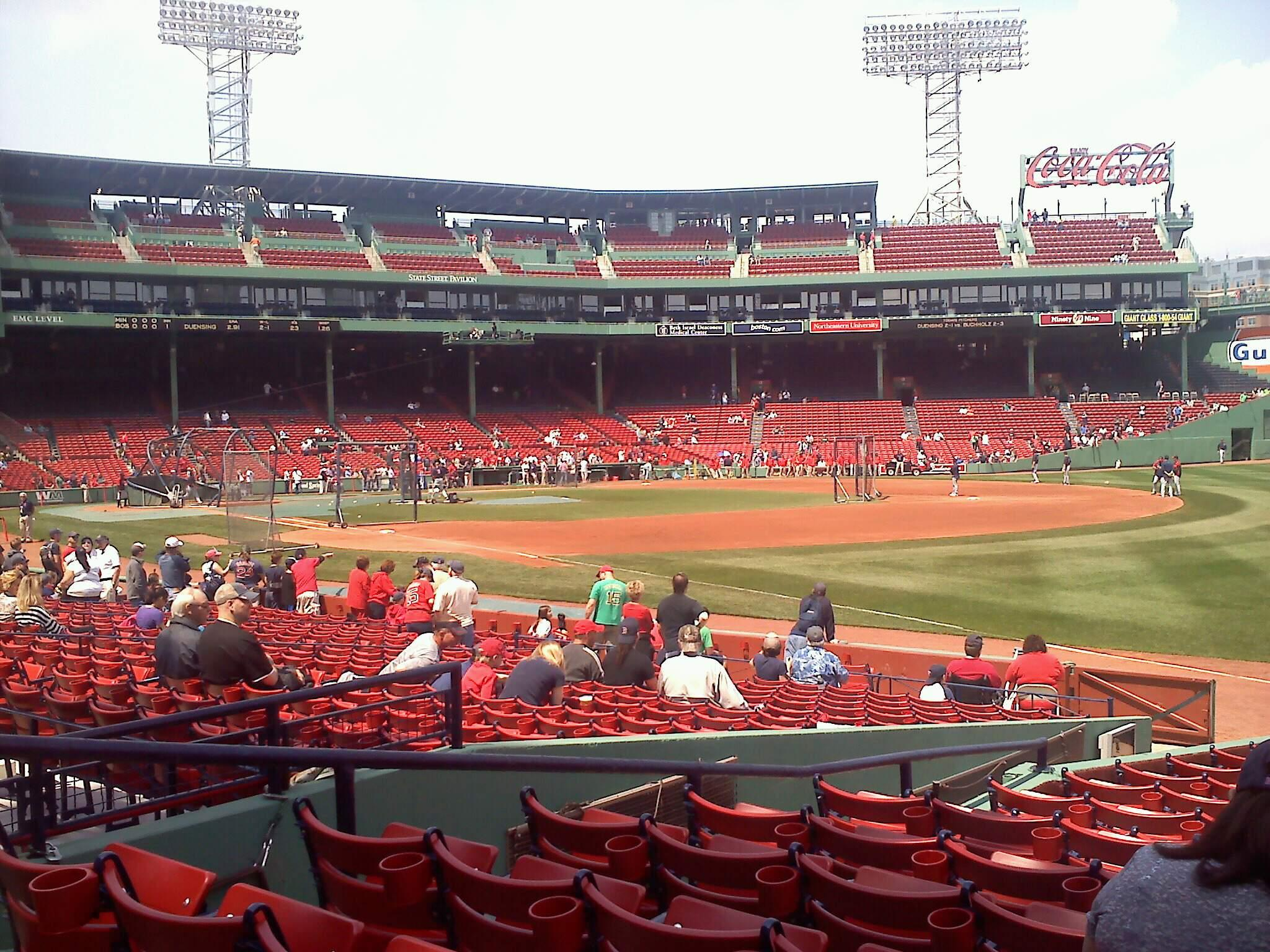 Fenway Park Section 10-B97 Row hh Seat 7