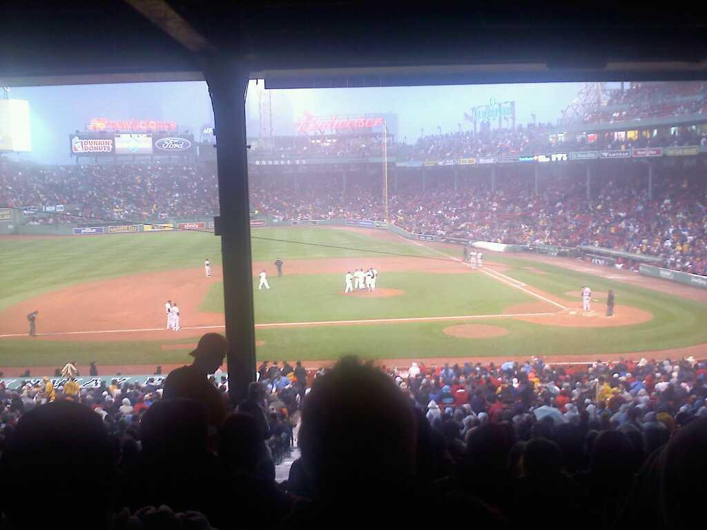 Fenway Park Section Grandstand 25 Row 17 Seat 23