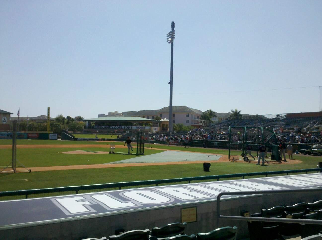 Roger Dean Chevrolet Stadium Section 119 Row 5 Seat 5