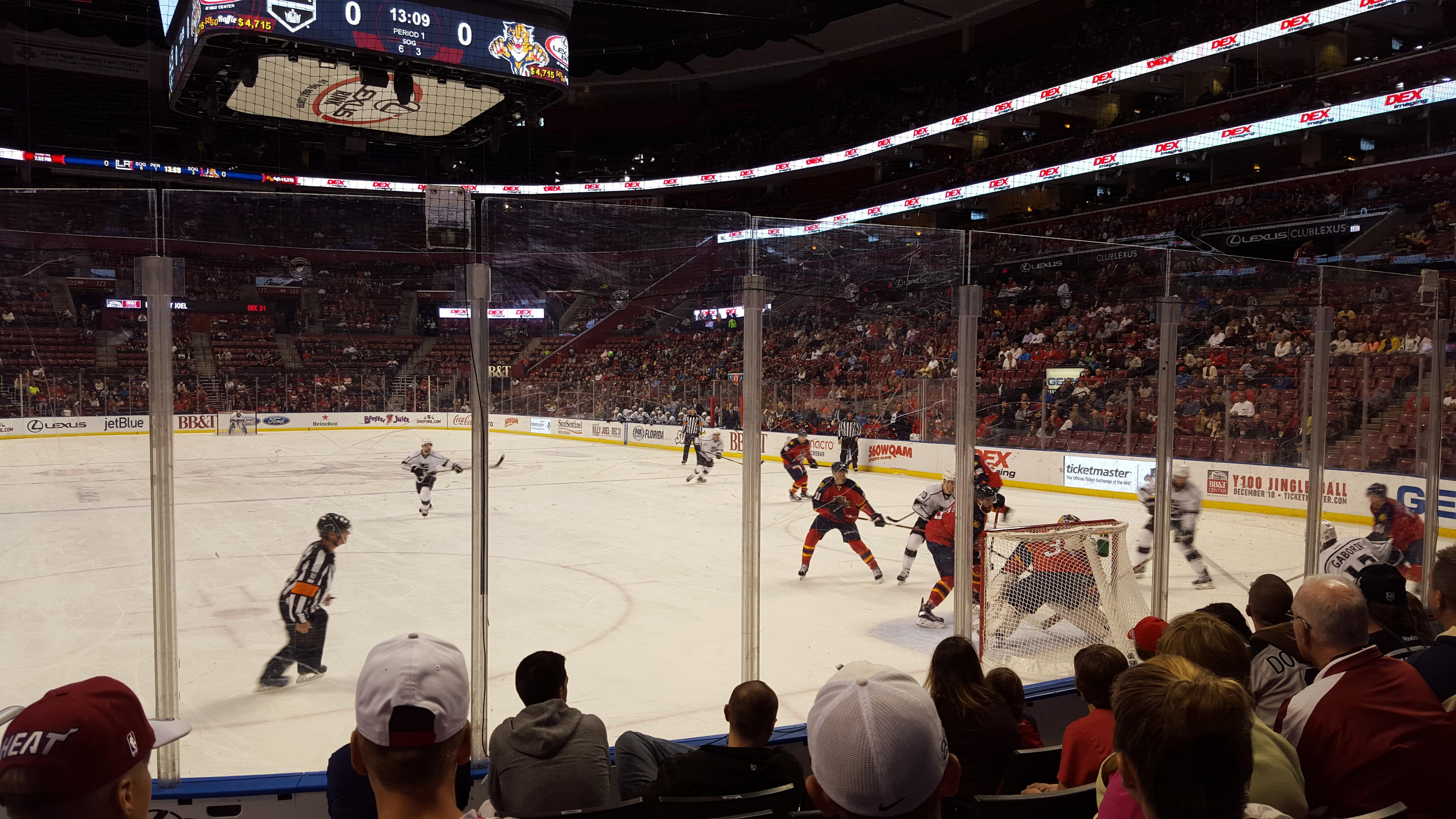 BB&T Center Section 111 Row 6 Seat 12